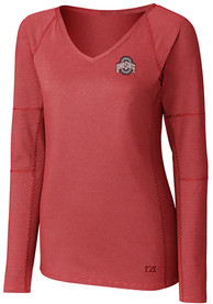 Ohio State Buckeyes Womens Cutter and Buck Victory T-Shirt - Red