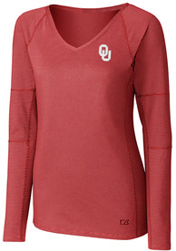 Oklahoma Sooners Womens Cutter and Buck Victory T-Shirt - Crimson