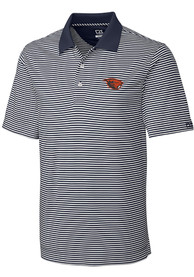 Oregon State Beavers Cutter and Buck Trevor Stripe Polo Shirt - White