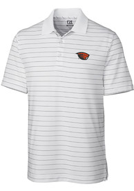 Oregon State Beavers Cutter and Buck Franklin Stripe Polo Shirt - White