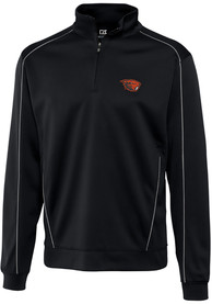 Oregon State Beavers Cutter and Buck Edge 1/4 Zip Pullover - Black