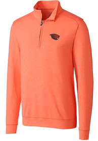 Oregon State Beavers Cutter and Buck Shoreline 1/4 Zip Pullover - Orange