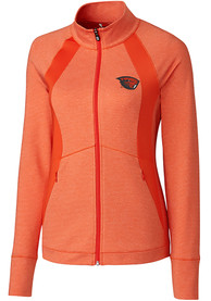 Oregon State Beavers Womens Cutter and Buck Shoreline 1/4 Zip Pullover - Orange