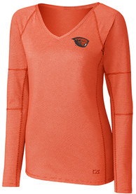 Oregon State Beavers Womens Cutter and Buck Victory T-Shirt - Orange