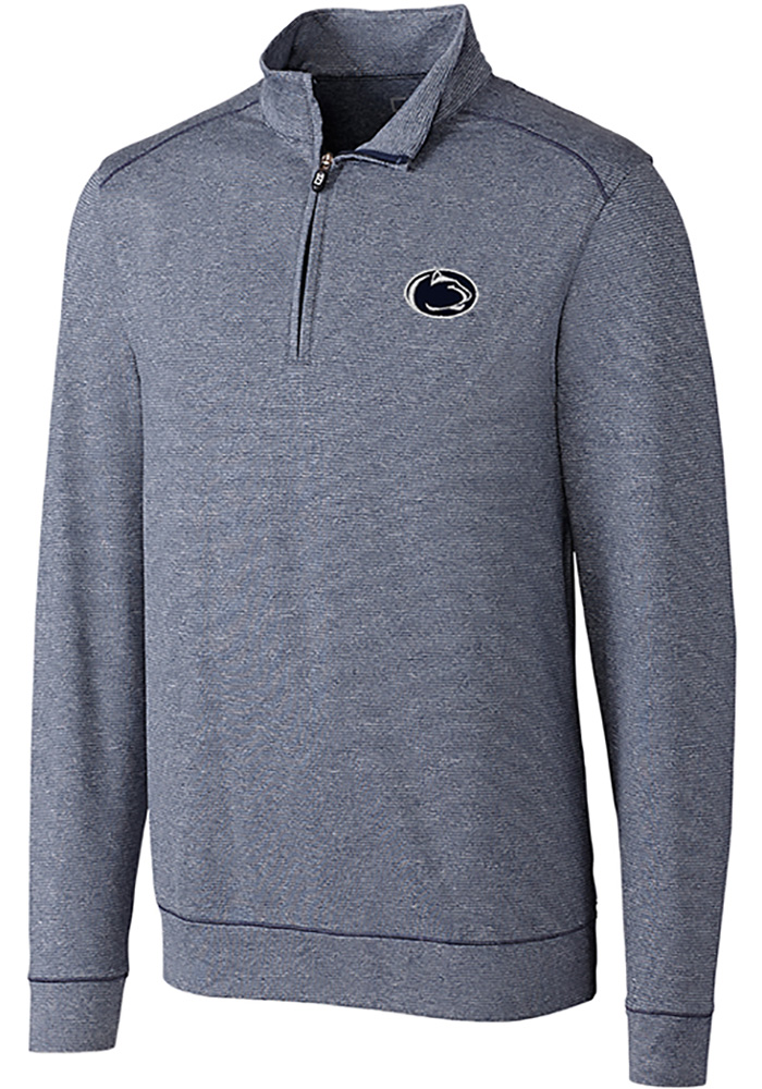 Cutter and Buck Penn State Nittany Lions Mens Navy Blue Shoreline Long Sleeve 1/4 Zip Pullover - Image 1