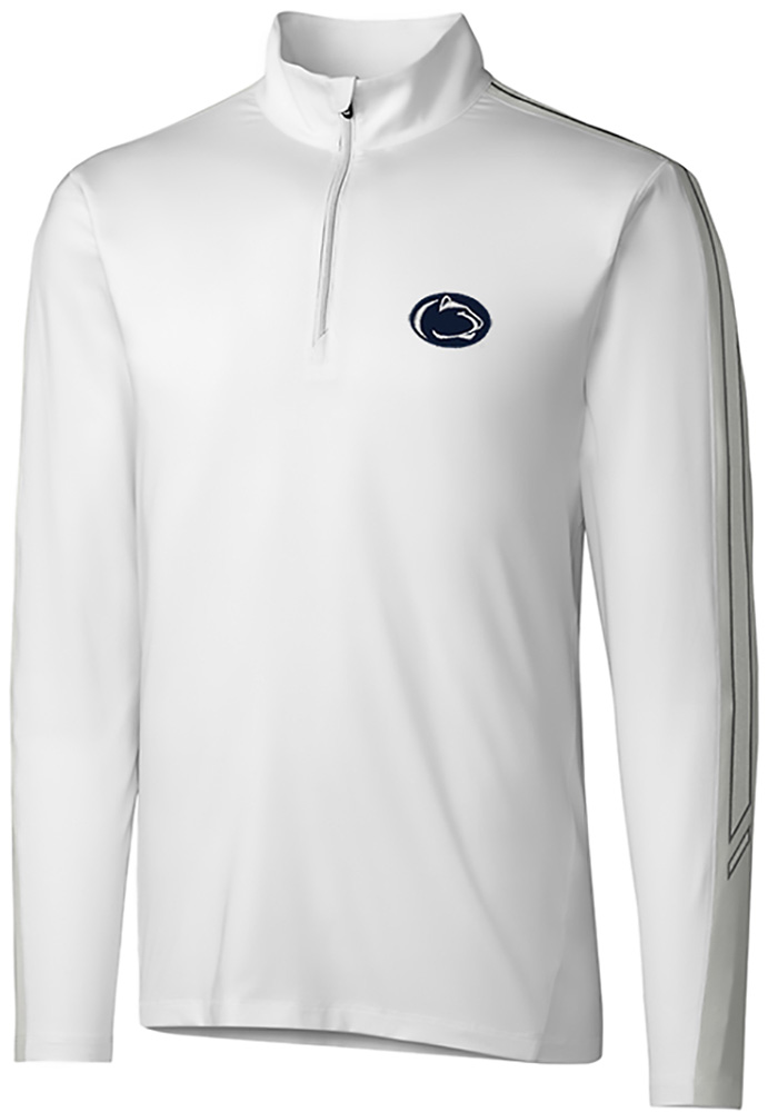 Cutter and Buck Penn State Nittany Lions Mens White Pennant Sport Long Sleeve 1/4 Zip Pullover - Image 1