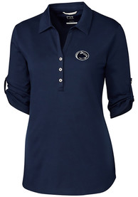 Penn State Nittany Lions Womens Cutter and Buck Thrive Dress Shirt - Navy Blue
