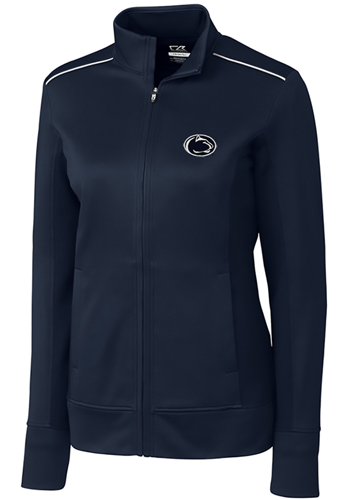 d1ecdef0bf83 Cutter and Buck Penn State Nittany Lions Womens Navy Blue Ridge Long Sleeve  Full Zip Jacket