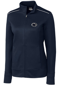 Penn State Nittany Lions Womens Cutter and Buck Ridge Full Zip Jacket - Navy Blue