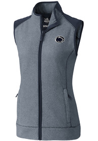 Penn State Nittany Lions Womens Cutter and Buck Cedar Park Vest - Navy Blue