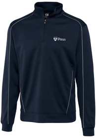 Pennsylvania Quakers Cutter and Buck Edge 1/4 Zip Pullover - Navy Blue