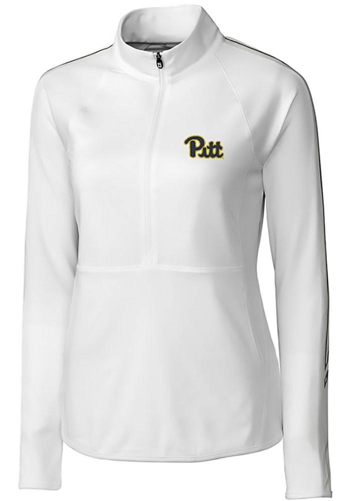 Cutter and Buck Pitt Panthers Womens White Pennant Sport Long Sleeve Full Zip Jacket - Image 1