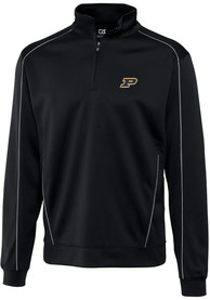 Purdue Boilermakers Cutter and Buck Edge 1/4 Zip Pullover - Black