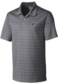 Purdue Boilermakers Cutter and Buck Interbay Melange Polo Shirt - Grey