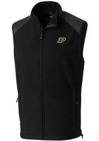 Purdue Boilermakers Cutter and Buck Cedar Park Vest - Black