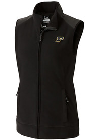 Purdue Boilermakers Womens Cutter and Buck Cedar Park Vest - Black