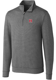 Rutgers Scarlet Knights Cutter and Buck Shoreline 1/4 Zip Pullover - Grey