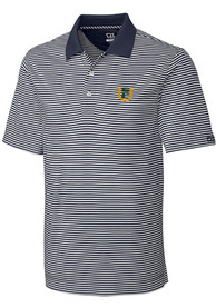 USF Dons Cutter and Buck Trevor Stripe Polo Shirt - White