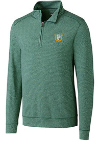 USF Dons Cutter and Buck Shoreline 1/4 Zip Pullover - Green