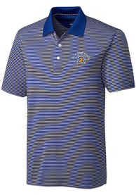 San Jose State Spartans Cutter and Buck Trevor Stripe Polo Shirt - Blue