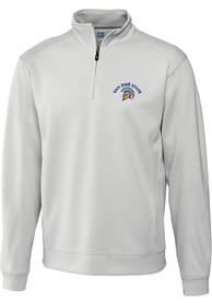 San Jose State Spartans Cutter and Buck Edge 1/4 Zip Pullover - White