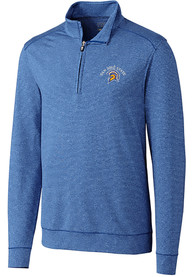 San Jose State Spartans Cutter and Buck Shoreline 1/4 Zip Pullover - Blue