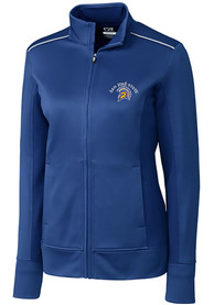 San Jose State Spartans Womens Cutter and Buck Ridge Full Zip Jacket - Blue