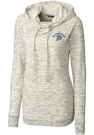 San Jose State Spartans Womens Cutter and Buck Tie Breaker Hooded Sweatshirt - White