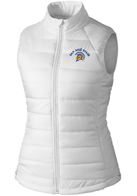 San Jose State Spartans Womens Cutter and Buck Post Alley Vest - White