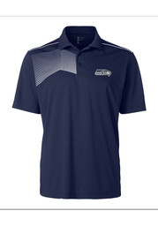 Seattle Seahawks Cutter and Buck Glen Acres Polo Shirt - Navy Blue