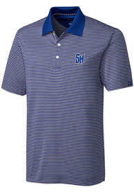 Seton Hall Pirates Cutter and Buck Trevor Stripe Polo Shirt - Blue