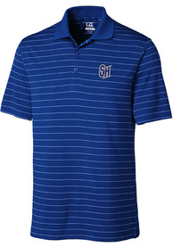 Seton Hall Pirates Cutter and Buck Franklin Stripe Polo Shirt - Blue