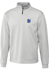 Seton Hall Pirates Cutter and Buck Edge 1/4 Zip Pullover - White