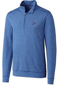 Seton Hall Pirates Cutter and Buck Shoreline 1/4 Zip Pullover - Blue