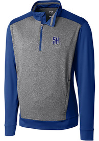 Seton Hall Pirates Cutter and Buck Replay 1/4 Zip Pullover - Blue