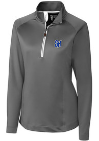 Seton Hall Pirates Womens Cutter and Buck Jackson 1/4 Zip Pullover - Grey