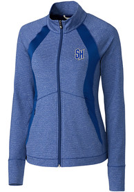 Seton Hall Pirates Womens Cutter and Buck Shoreline 1/4 Zip Pullover - Blue