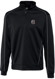 South Carolina Gamecocks Cutter and Buck Edge 1/4 Zip Pullover - Black