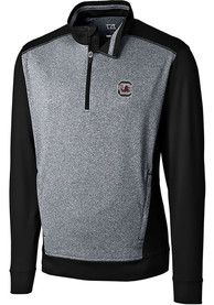 South Carolina Gamecocks Cutter and Buck Replay 1/4 Zip Pullover - Black