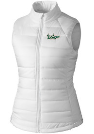 South Florida Bulls Womens Cutter and Buck Post Alley Vest - White