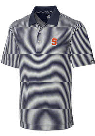 Syracuse Orange Cutter and Buck Trevor Stripe Polo Shirt - White