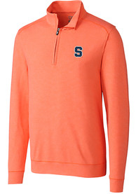 Syracuse Orange Cutter and Buck Shoreline 1/4 Zip Pullover - Orange