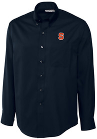 Syracuse Orange Cutter and Buck Epic Dress Shirt - Navy Blue