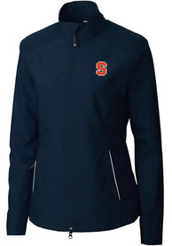 Syracuse Orange Womens Cutter and Buck Beacon Light Weight Jacket - Navy Blue