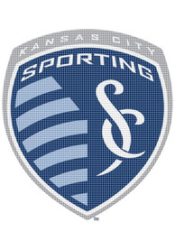Sporting Kansas City 12x12 Perforated Auto Decal - Navy Blue