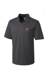 Chicago Cubs Cutter and Buck Chelan Polo Shirt - Charcoal