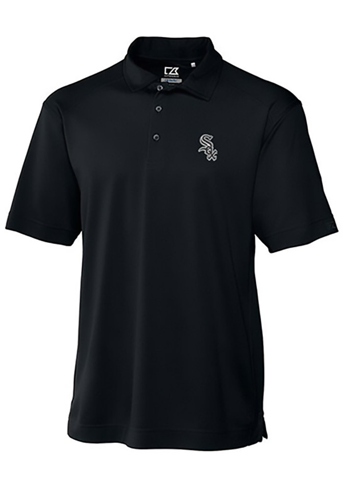 Cutter and Buck Chicago White Sox Mens Black Genre Short Sleeve Polo - Image 1