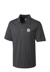 Pittsburgh Steelers Cutter and Buck Chelan Polo Shirt - Charcoal
