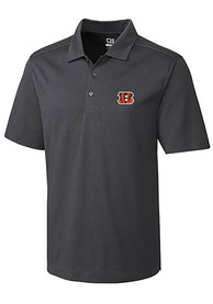 Cincinnati Bengals Cutter and Buck Chelan Polo Shirt - Charcoal