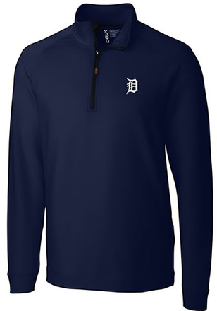 Cutter and Buck Detroit Tigers Mens Navy Blue Jackson 1/4 Zip Pullover